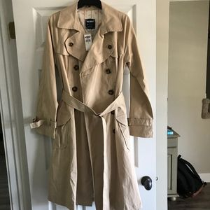 Old Navy Med Overcoat Light Tan Excellent Cond.